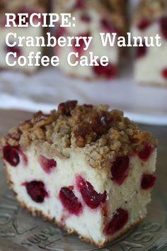 {RECIPE} Cranberry Walnut Coffee Cake | Catch My Party