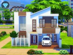 It is a two-story house with a garage and a small art studio connected to it. I also added a bartending corner at the second floor. An artist sim can concentrate on his/her creation without being...
