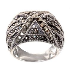 Amazon.com: Sterling Silver Marcasite Ring: Jewelry