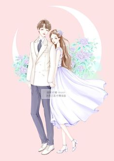 Fantasy Love, Fantasy Girl, Manga Anime, Anime Art, Girls With Flowers, Couple Drawings, Cute Chibi, Couple Art, Anime Outfits