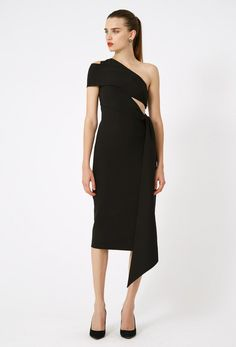 e5ca9fa1b1e1 Best-Dressed Guest | JADORE-FASHION Black Midi Dress, Dresses Online,  Shoulder
