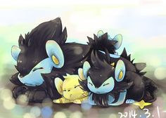 Luxray and pre-evolutions Pokemon Fan Art, All Pokemon, Cute Pokemon, Pokemon Stuff, Pokemon Images, Pokemon Pictures, Pokemon Eeveelutions, Draw On Photos, Anime Eyes