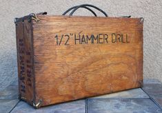 Reduced  Vintage Handmade Tool Box Tool Chest by Chapter65 on Etsy