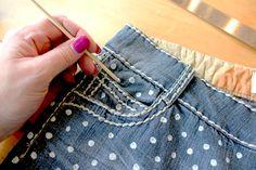 DIY Polka Dot Jeans!