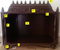 Wooden Temple For Home, Temple Design For Home, Home Temple, North Facing House, Mandir Design, Pooja Mandir, Creative Wall Decor, Pooja Room Door Design, Ethnic Home Decor