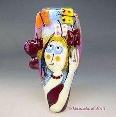 Lampwork Glass Bead   Sunshine Butterfly Girl  by ManuelasGlassArt, $139.00