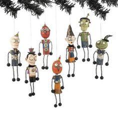 Amazon.com: STEAMPUNK HALLOWEEN ORNAMENTS Monsters Pumpkin Skull Janell Berryman Dept 56