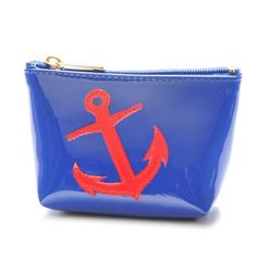 Mini Avery Case in Navy with Red Anchor by Lolo