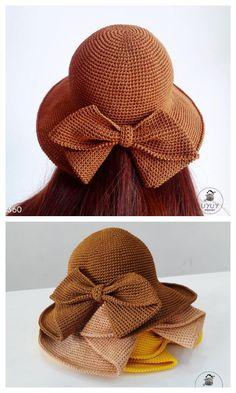 Crochet Crafts, Yarn Crafts, Crochet Yarn, Free Crochet, Yarn Projects, Crochet Projects, Crochet Summer Hats, Crochet Sun Hats, Knitting Patterns
