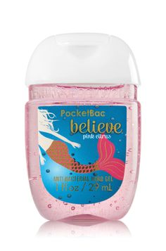 Bath & Body Works Believe - Pink Citrus PocketBac Sanitizing Hand Gel | A flirty blend of pink pomelo, orange zest & sugarcane