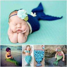 ohmygosh so cute - mermaid tail patterns, crochet (free and paid pattern links)