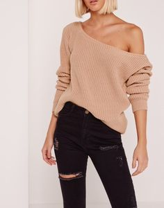Free People - Shoulder Knit Sweater