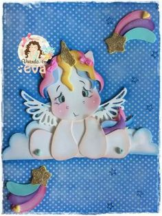 #gomaevamanualidades Crafts To Make, Arts And Crafts, Paper Crafts, Unicorn Farts, Unicorn Balloon, Little Poney, Decorate Notebook, Unicorn Birthday Parties, Balloon Decorations