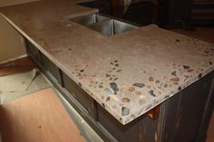 Image detail for -Granite Inlays 008 – Concrete Sinks and Countertops Concrete Sink, Concrete Countertops, Kitchen Countertops, Granite, Hearth And Home, New Kitchen, Kitchen Ideas, Kitchen Organization, Sinks