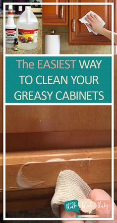 How To Clean Grease From Kitchen Cabinet Doors Cleaning Pinterest Kitchens Household And Life Hacks