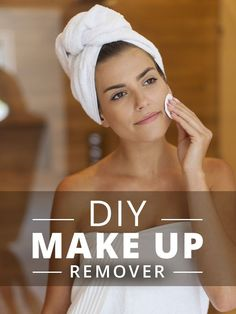 DIY Make Up Remover! We love this because it's such a simple, skin-friendly way to do it naturally! #diymakeupremover #diybeauty #diyskincare