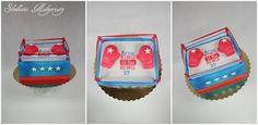 Słodkości tworzone z pasją. Dokumentacja mojego hobby - torty, ciasta, ciasteczka, babeczki!: Tort w kształcie ringu z rękawicami bokserskimi