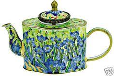 KELVIN CHEN Enamel Mini Teapot-Iris by VAN GOGH