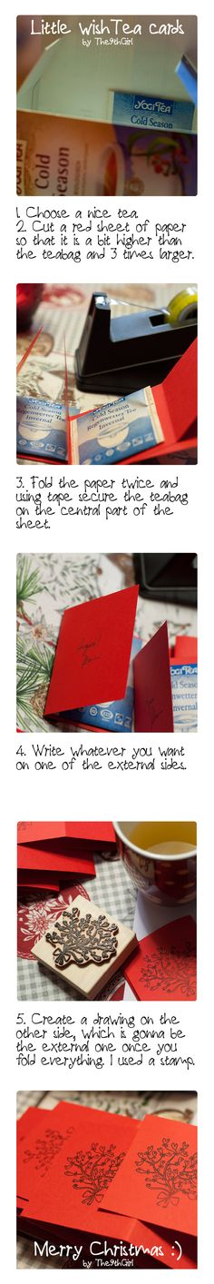 I love tea and Christmas wishes, so I figured out this way to have them together.   http://solamentete.wordpress.com/  #tea #christmas #wishes #greeting #cards
