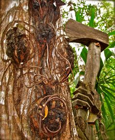 Poustinia Land Art in the outskirts of Benque Viejo del Carmen in Belize.