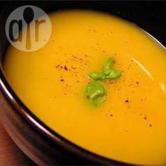 Sopa de abóbora com creme de leite @ allrecipes.com.br