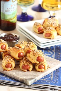 Spiced just like an Everything bagel...this Pigs in a Blanket recipe is great for game day!