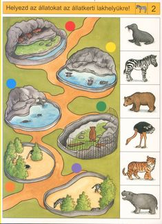Crafts,Actvities and Worksheets for Preschool,Toddler and Kindergarten.Lots of worksheets and coloring pages. Preschool Science, Preschool Lessons, Preschool Worksheets, Kindergarten, Toddler Teacher, Animal Puzzle, Animal Habitats, Animal Activities, Animal Projects