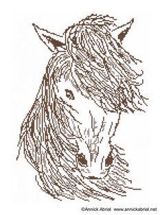 Sauvage fiche point de croix cheval - annickabrial.net