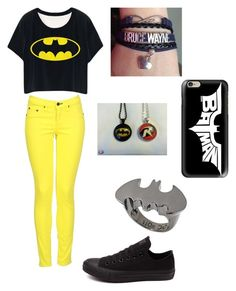 """""""Batman"""" by tabbytha-walsh ❤ liked on Polyvore featuring rag & bone, Converse, Casetify and Noir"""