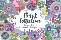 Vector floral collection by Fancy art on @creativemarket