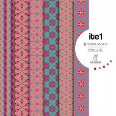 Digital Paper Pack / Cute Digital Scrapbook Paper / Floral Background Pattern / Pink & Teal Seamless Pattern [ite1] from ThisPaperFox by DaWanda.com #scrapbookpaper #digitalpaper #paper #scrapbooking #pattern #backgroundpaper #floral #digitalpaper