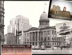 Springfield, IL. Old State Capitol then and now. Courtesy of Springfield Rewind.
