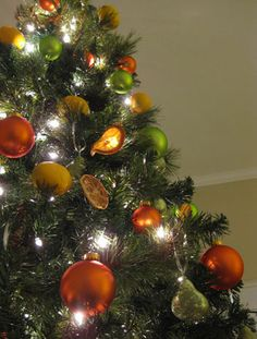 Orange and Green, exactly like the colors of my living room. Can't wait for Christmas!!!