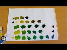 Yağlı Boya Yeşil Renk - YouTube Color Mixing, Plastic Cutting Board, Youtube, Youtubers, Youtube Movies