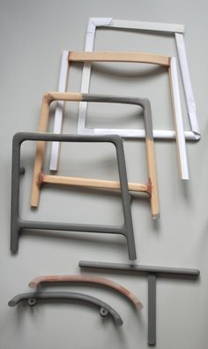 Deconstruction: Minuscule Chair by Cecilie Manz - making models with cardboard, clay and paint