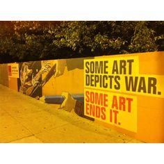 Mural outside the university of art Chicago
