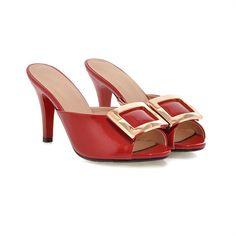 Slides Spike Heels Sandals