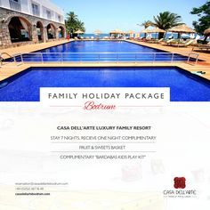 Looking for a family fun holiday this summer? Introducing Casa dell'Arte's Luxury Family Resort - Family Holiday Package. In addition there is a Bardabas Kids Center open daily from 10am to 6pm, art activities, beach, kiddy pool and more. #familyholidays #familyvacation #casadellarte