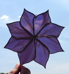 New this month! Purple Stained Glass Pinwheel Sun Catcher by Sweveneers on Etsy, $20.00