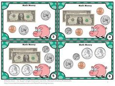FREE!!! Money: Here are six math money task cards to help your students count dollars and coins. A student response form, mini-writing assignment and answer key are also provided. I've included scavenger hunt directions along with more game ideas.