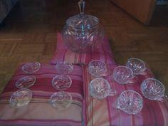 Kristallglas Bowle Set!14 teilig!Neu (nie benutzt)!Sehr schönes Bowle Service!