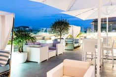 The Best Summer Hangouts in Rome, Sky blue rooftop, pool