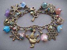Girl's Charm Bracelet  Princess Bracelet  by SilverTrumpetJewelry