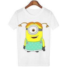 9c485d820 Fevengetoll New 2017 Cute Cartoon Blusa camisetas Tops Tees Women Kwaii  Printed Minions T shirt Casual T-shirt WMT69