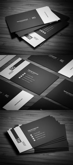 Simple business cards, black and white design suitable for any kind of business and personal use.