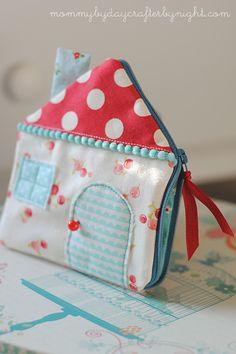 Mamá Por Día Crafter POR NOCHE: Little House bolsa de la cremallera