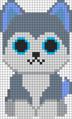 Slush Husky Beanie Boo Perler Bead Pattern | Bead Sprites | Animals Fuse Bead Patterns