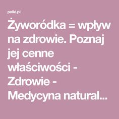 Żyworódka = wpływ na zdrowie. Poznaj jej cenne właściwości - Zdrowie - Medycyna naturalna - Polki.pl