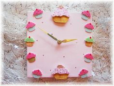 Product Information at Angel Heart Designs Cupcake Bedroom, Heart Designs, Angel Heart, Cake Art, Kitchenware, Kitchens, Clock, Cupcakes, Decor Ideas