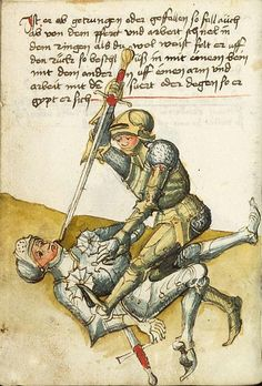 Harnishfechten from Kunste Zu Ritterlicher Were (MS KK5012), 1495, by Peter Falkner.